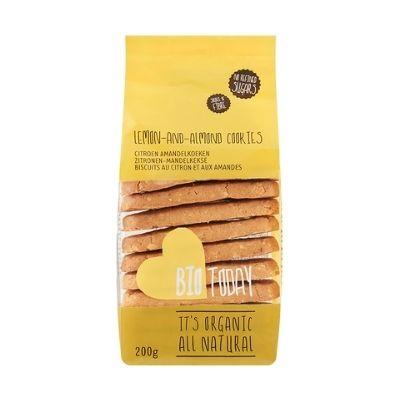 Citroen amandel biologische koekjes