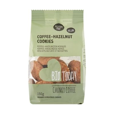 Koffie-hazelnoot biologische koekjes